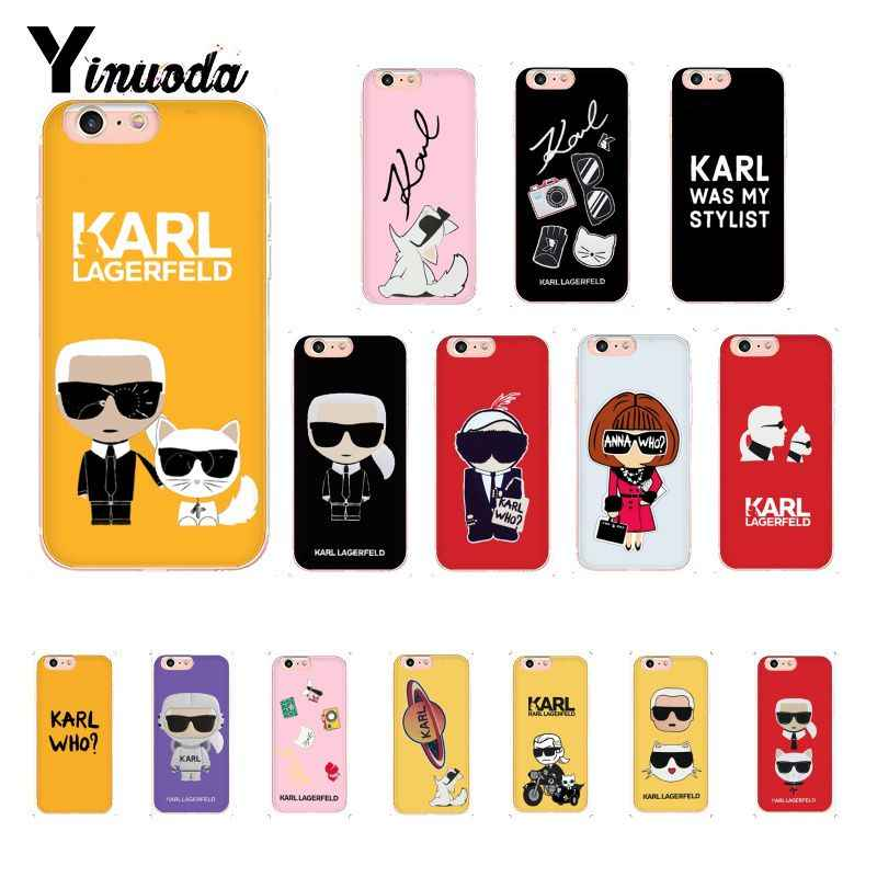 Yinuoda Fashion Karl Lagerfeld Color Newly Arrived Phone Case for iPhone 8 7 6 6S Plus X XS MAX 5 5S SE XR 10 Cover 11 pro max