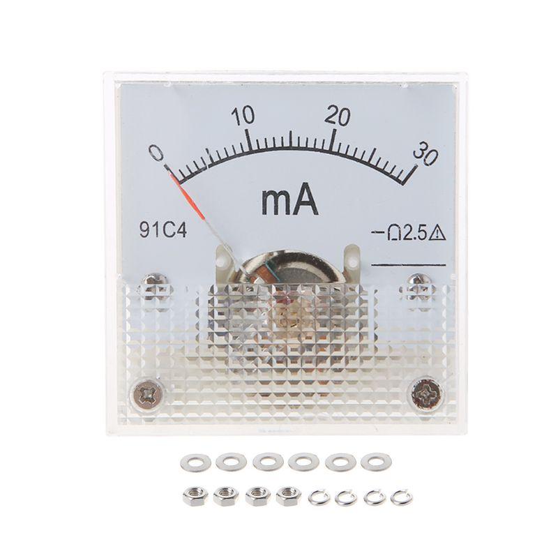 91C4 Plastic Square Mini DC 50A Analog Current Meter Ammeter US