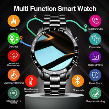 LIGE Smart Watch Multifunctional Sports Watch Men's Bluetooth Call Waterproof Heart Rate Monitoring Full Screen Touch Watch Men