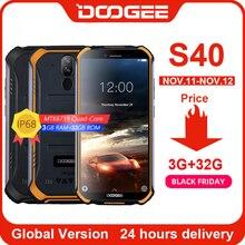 DOOGEE S40 เครือข่าย 4G โทรศัพท์มือถือ 5.5 นิ้ว 4650mAh MT6739 Quad Core 3GB RAM 32GB ROM Android 9.0 8.0MP IP68/IP69K