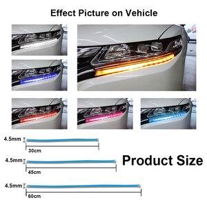 Image 4 - 2Pcs רכב סטיילינג LED ריצת אורות אביזרי אור אוטומטי זורם הפעל אות אור מדריך רצועת פנס הרכבה פלאש אורות