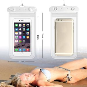 11x22cm Universal Waterproof Phone Case IPX8 Mobile Storage Pouch Clear Dry Cover Double Sealed for Swimming Underwater PXPF