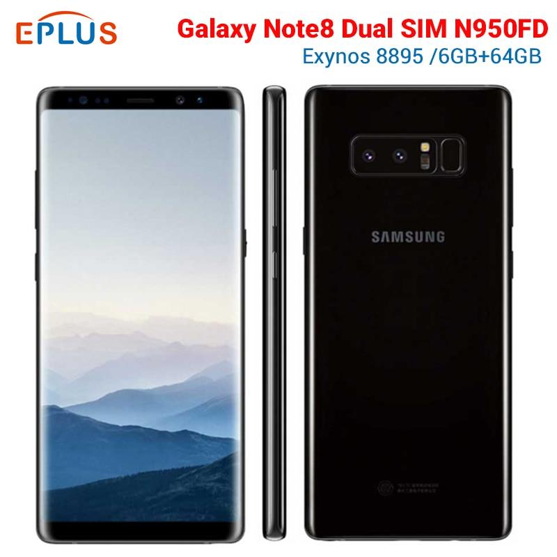 Versión Global 6GB 64GB Samsung Galaxy Note8 Nota 8 Duos N950FD teléfono móvil con doble SIM 4G 6,3 pulgadas 12MP NFC nuevo teléfono Original Teléfono Móvil ruso UNIWA V808G con teclado 3G WCDMA, linterna fuerte para ancianos, teléfono móvil grande SOS con botón pulsador para hombre mayor