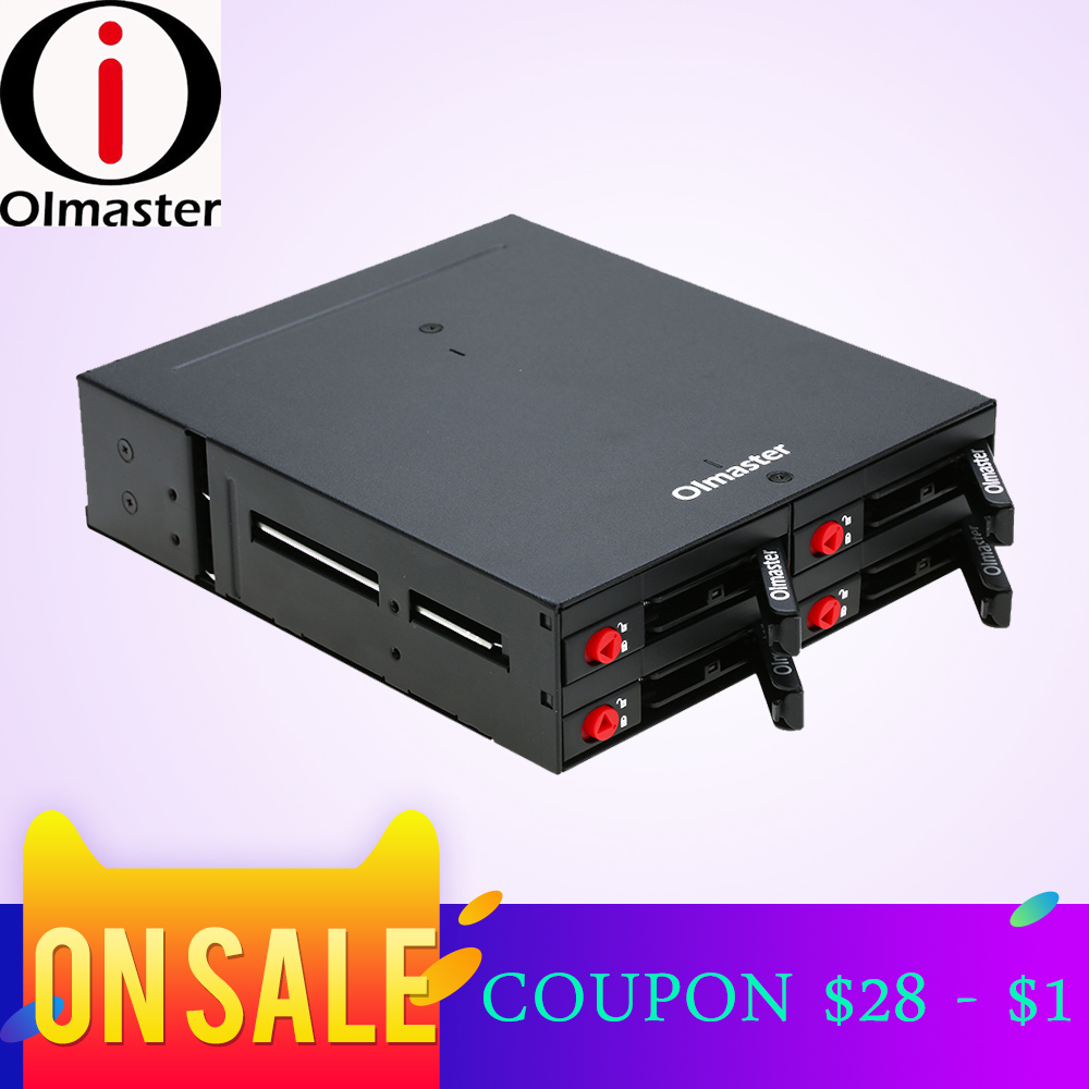 OImaster 4 Bays 2.5 Inch SATA HDD SSD Hard Drive Mobile Rack Backplane With Key Lock Locker Function Support Hot-swap High 6Gbps