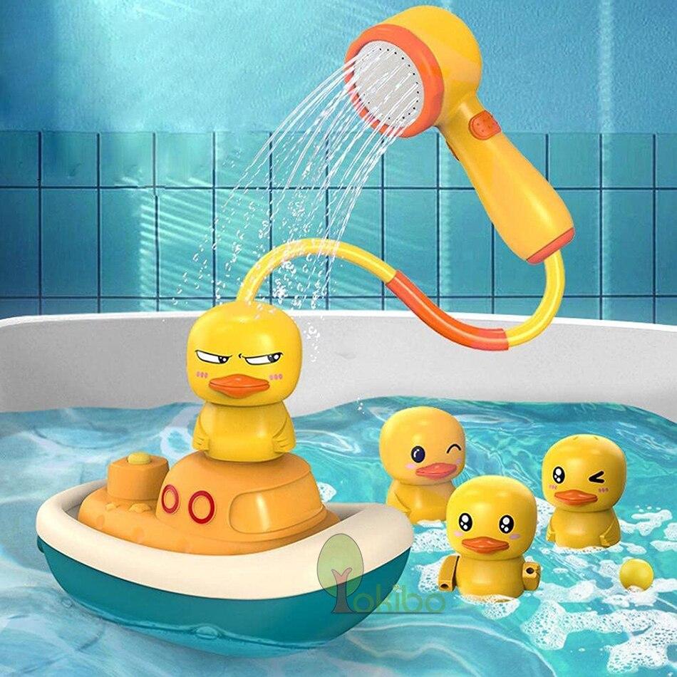 Bath Toys for Kids Electric Duck Sucker BaBy Bath Toys Spray Water Toys for Kids Outside Pool Bathtub Toys Sprinkler