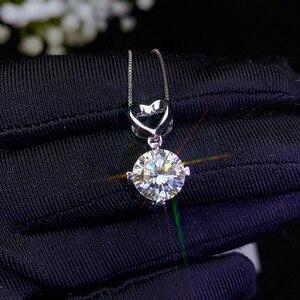 Image 2 - BOEYCJR 925 シルバー 0.5ct/1ct/2ct/3ct F 色モアッサナイト VVS 婚約結婚式のペンダントネックレス記念日のギフト