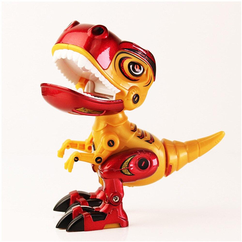 Children Dinosaur Action Robot Toy Alloy Body Dinosaur Model Tyrannosaurus Toys Sound Light Kids Early Education Toy Kids Gift