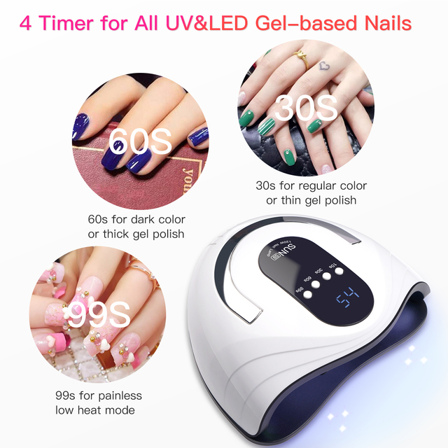 84W UV LED Nail Lamp Nail Dryer Fast Dry for Gel Nails Polish Curing with 42 pcs LEDs, 4 Timer, Auto Sensor for Home and Salon 5