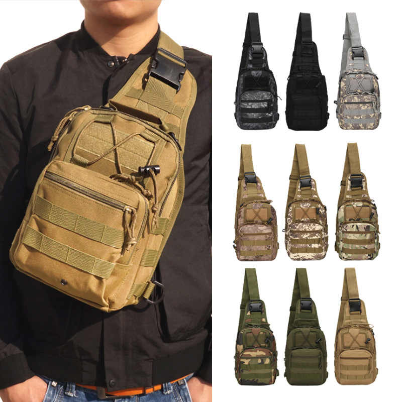 Military Tactical Backpack Camouflage Molle Bag Shoulder Hiking Camping Climbing Daypack 600D Backpack Hunting Outdoor