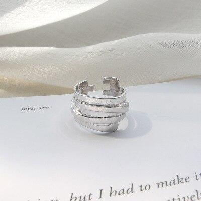 2019 anneaux de mariage Anillos pur anneau Ins personnalité contracté vent Hjz520, japon et multi-couche remontage femelle bagues