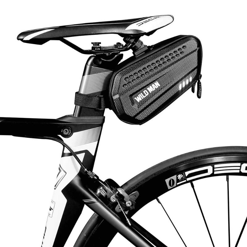 Durable Bicycle Bags Multi-function WILD MAN <font><b>Bike</b></font> Seat Tail Hard Phone Pouch Seatpost Bags Bicycle <font><b>Saddle</b></font> Rear Bag image