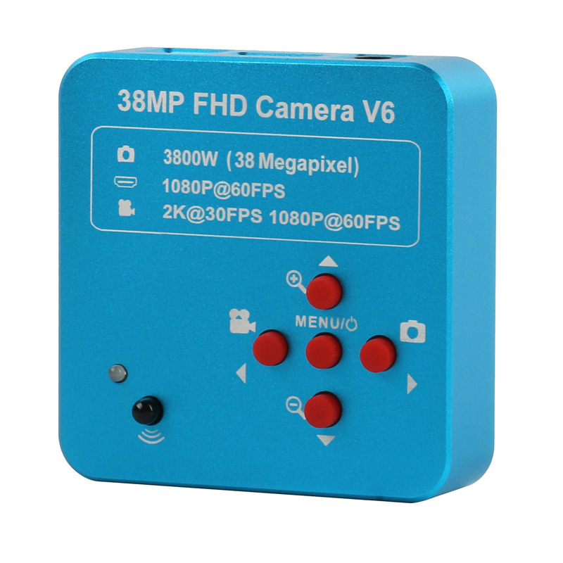 HD 38MP 2K 1080P 60fps HDMI USB Industry Microscope Camera C Mount Lens 8G TF Storage Phone Motherboard Soldering Repair