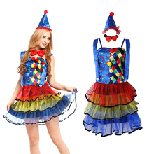 Circus Clown Costume Fancy Dress Halloween Xmas Hen Night Party Woman Outfit