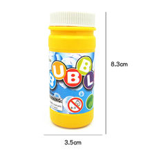 Máquina sopladora de mezcla de solución de burbujas para niños, líquido de relleno mezclado, jabon para burbujas, 50ml, 1 Uds.