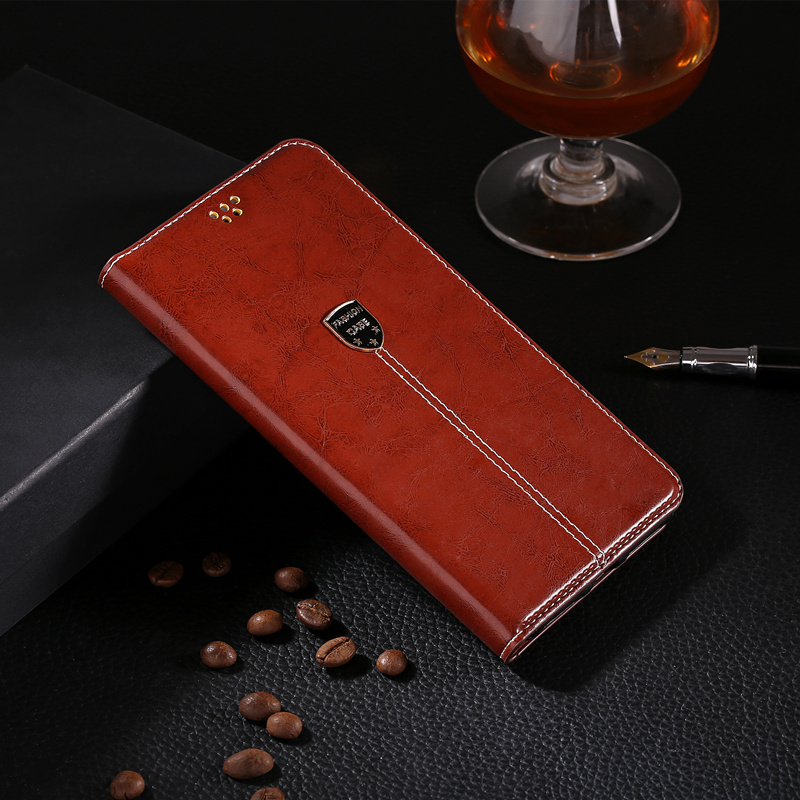 Book Case For Fundas <font><b>Alcatel</b></font> 1X 2019 1X2019 <font><b>5008Y</b></font> Case Luxury Leather Phone Bag Case Silicone Back Cover Business Case image