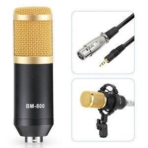 Image 4 - Microfono bm 800 Kits de micro de Studio bm800 condensateur micro paquet support bm 800 karaoké micro filtre Pop alimentation fantôme