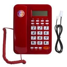 Telefono fijo KX T8005CID escritorio teléfono fijo con cable con el altavoz y el identificador de la Oficina para el hogar escritorio teléfono