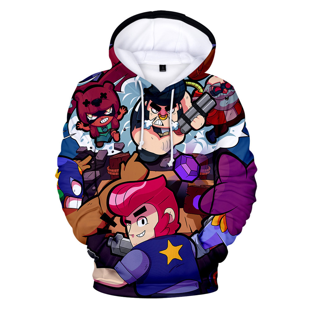 Shooting Game Brawls Leon Hoodie Kids Hoodies 3D Print Fashion Anime Boys Sweatshirt Girls Harajuku Cartoon Jacket Tops Clothes image
