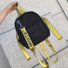 HAOYAN Brand 2019 College Style Backpack Mini Girls Bag Lett