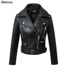 Women faux leather jacket black Biker Jackets Aviator coat new 2016 Short motorcycle Coats Female S-XL Jaqueta couro drop ship