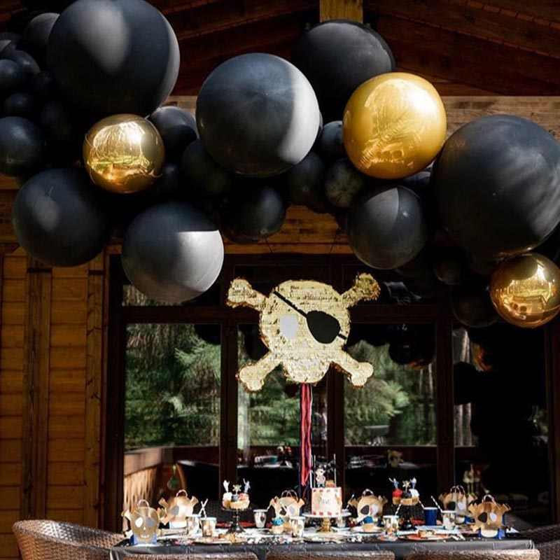 5/10/18/36 Polegada balões de látex preto gigante decoração da festa de aniversário crianças balão inflável de hélio de ar casamento dia dos namorados bolas