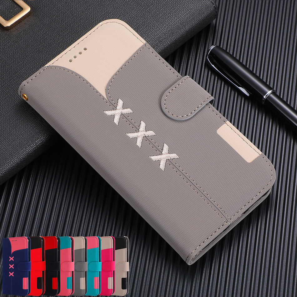 Fashion Wallet <font><b>Flip</b></font> <font><b>Case</b></font> For <font><b>Samsung</b></font> <font><b>Galaxy</b></font> S10e S10 S9 S8 J4 J6 Plus <font><b>A6</b></font> A7 A8 A9 <font><b>2018</b></font> A320 A520 A20 A30 A40 A50 Card Slot Cover image