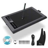 Parblo A610 S 10 ''X 6'' Professionale Tavoletta Grafica Digitale di Arte Disegno Tablet 8192 Livelli di Pressione Della Penna + due-Dita Del Guanto