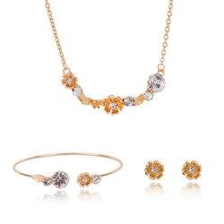 Новая продукция горячая Распродажа сплав ювелирные изделия комплект Амазон хит продаж ожерелье серьги браслет свадебные аксессуары набор