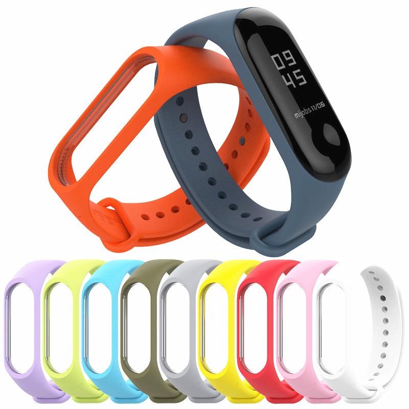 Mi Band 3/4  Strap Waterproof  Replacement Silicone Wriststrap For Xiaomi Mi3 Mi4 Smart Bracelet Wrist Band  Accessories