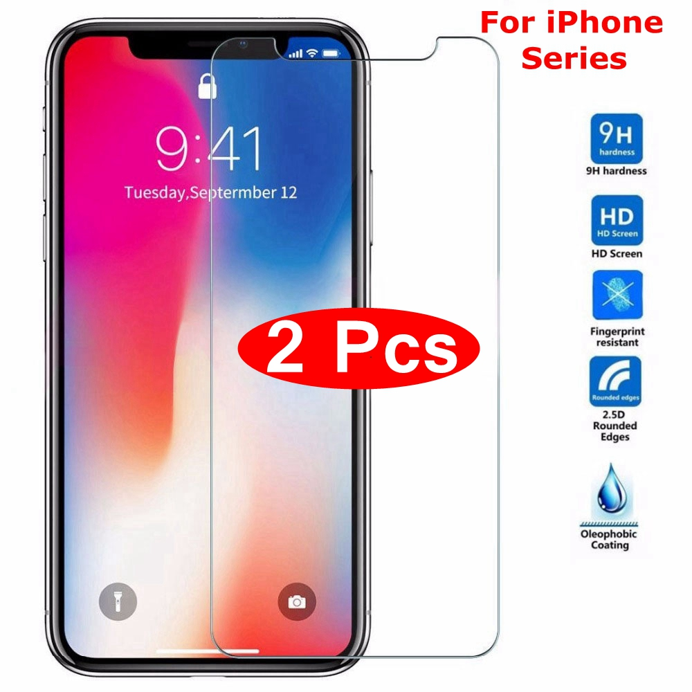 Tempered-Glass Screen-Protector Case-Cover 7plus iPhone Xsmax for 7/8/6/.. Max-Xr