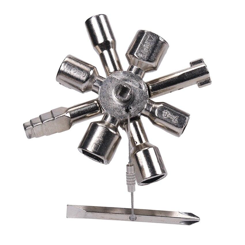 10-in-1Multifunctional инструменты ключ универсальный Управление ключ для шкафа динамометрические ключи крестовой ключ поезд для замочной скважины ...