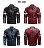 Vintage Motorcycle Jacket 2020 Men Fashion New Biker Leather Jacket Male Embroidery Bomber Coat Winter Fleece Pu Overcoat 4