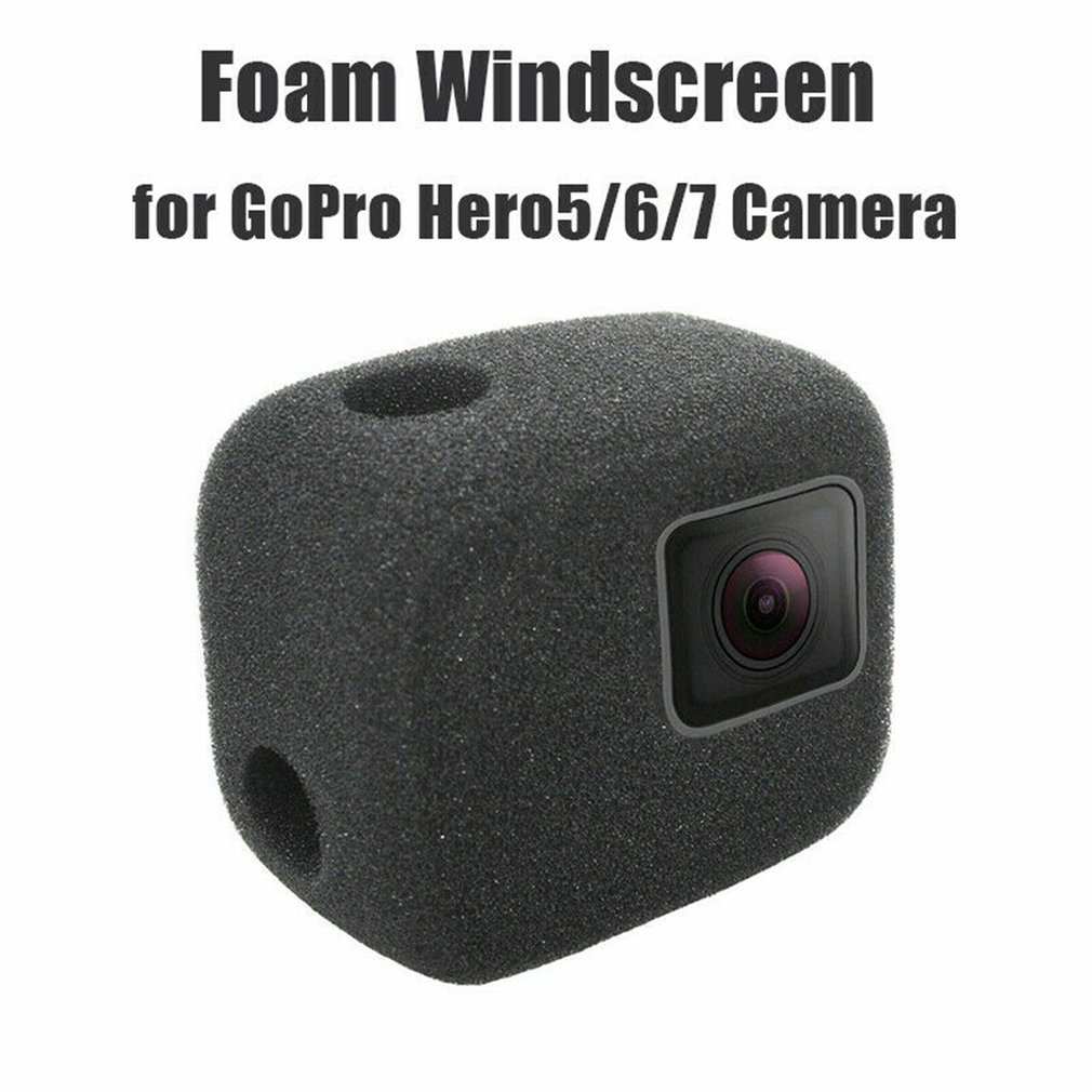 For GoPro 7 6 5 Windproof Wind Foam Noise Reduction Sponge Cover Case For Gopro Hero 7 6 5 Foam Windscreen