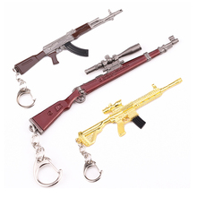 5pcs/Lot children small toy Zinc alloy Battle Royale game prop model toy 98k Sniper Gun Metal Medel Children's Day Gift for Boys fortnight battle royale toy model the tactical shot gun keychain alloy weapons kids toy collection decoration
