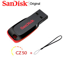 Original SanDisk USB Flash Drive 128GB USB 2.0 Memory Stick 32GB 64GB 16GB USB Disk Pen Drive CZ50 memory stick Pendrive Usb key