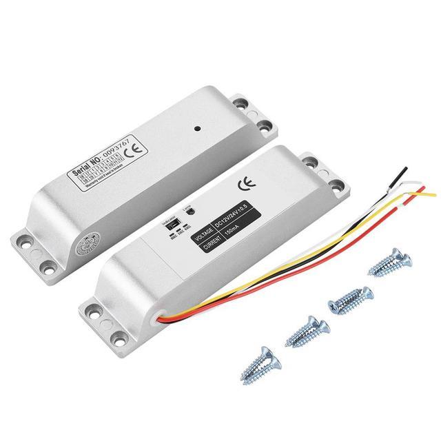 DC12V 1000KG חשמלי זרוק דלת מנעול מגנטי אינדוקציה שער הגישה כניסת בקרת שער נעילת 0s/3s/6s עיכוב פונקציה