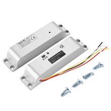 Trava elétrica de porta de indução magnética, controle de entrada de portão magnético 0s/3 dc12v 1000kg s/6s função de atraso