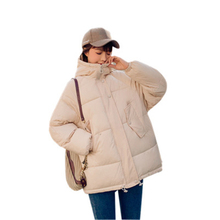 New plus size women cotton coat black red Large fur collar hooded winter jacket loose female parka