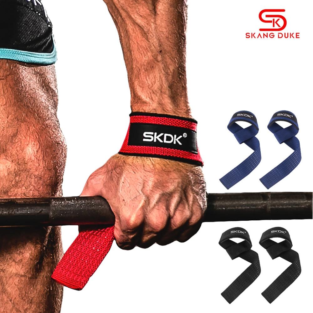 Ginásio de fitness levantamento de peso apertos de mão bandas esporte haltere treinamento suporte de pulso fita cintas barbell puxar para cima