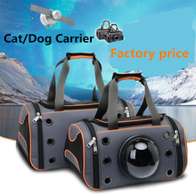2019 Carrier Cat bag Breathable Portable Pet Bag Outdoor Travel backpack for cat and dog Transparent Space Backpack