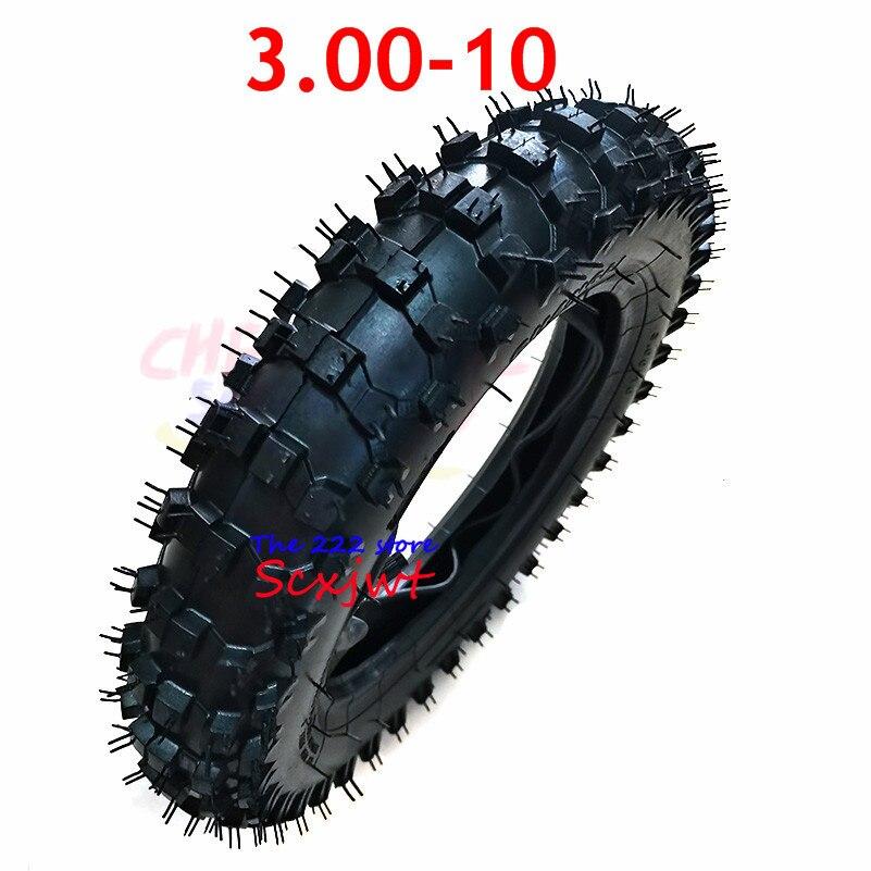 Шина 10 дюймов 3,00-10, внутренняя камера наружной шины, нескользящая, для мотокросса, гоночного мотоцикла, внедорожного велосипеда, Atomik SSR SDG GY6, ...
