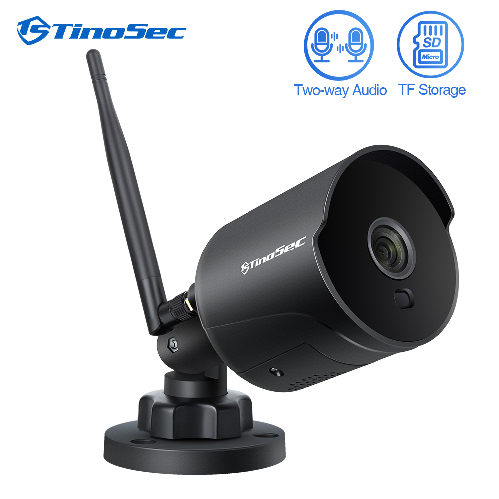 TinoSec Wifi Outdoor IP Camera 1080P Waterproof 2MP Wireless Video Network Security Camera Two Way Audio TF Card Record