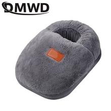 DMWD портативная грелка для ног с электрическим подогревом, теплые тапочки для ног, теплая обувь для зимнего общежития, сушилка для одежды, коврик для сушки, EU