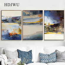 Nordic Abstract Canvas Painting Wall Picture Oil Paining Printing Posters for Living Room Decor DJ358