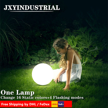 Wholesale!Diameter 50cm waterproof led ball /Glowing plastic FURNITURE FOR INDOOR/GARDEN/Lawn/Swimming pool DECORATION