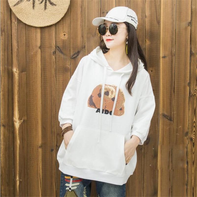Spring Oversized Patch Pullover Harajuku Pullovers Cartoon Animal Print Loose Women Hoodies Sweatshirts Female Casual Coat