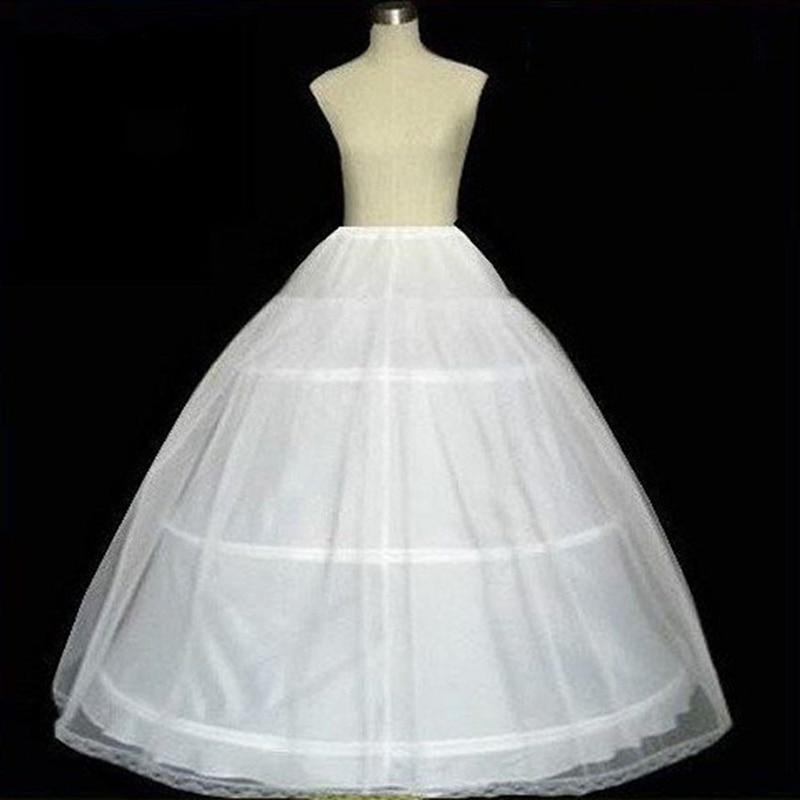 In Stock Hot Sale 3 Hoop Ball Gown Petticoat Bone Full Crinoline Petticoats For Wedding Dress Wedding Skirt Accessories Slip