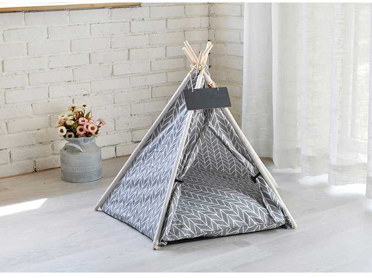 dog teepee with cushion