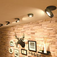 Lámpara empotrable de techo, foco LED COB giratorio de 360 grados, empotrable, empotrable, 3W, 5W, 7W, 9W, 12W