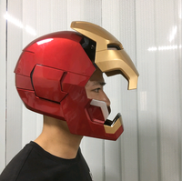 [TOP] 1/1 Cosplay Iron man MK42 Helmet mask magnetic ring control electric open led light eye Collectible Model Toy adult Gift